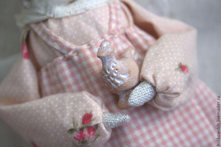 Купить Кукла Ангел с птичкой - кремовый, ангел, кукла ангел, ангел с птичкой, птичка, птица