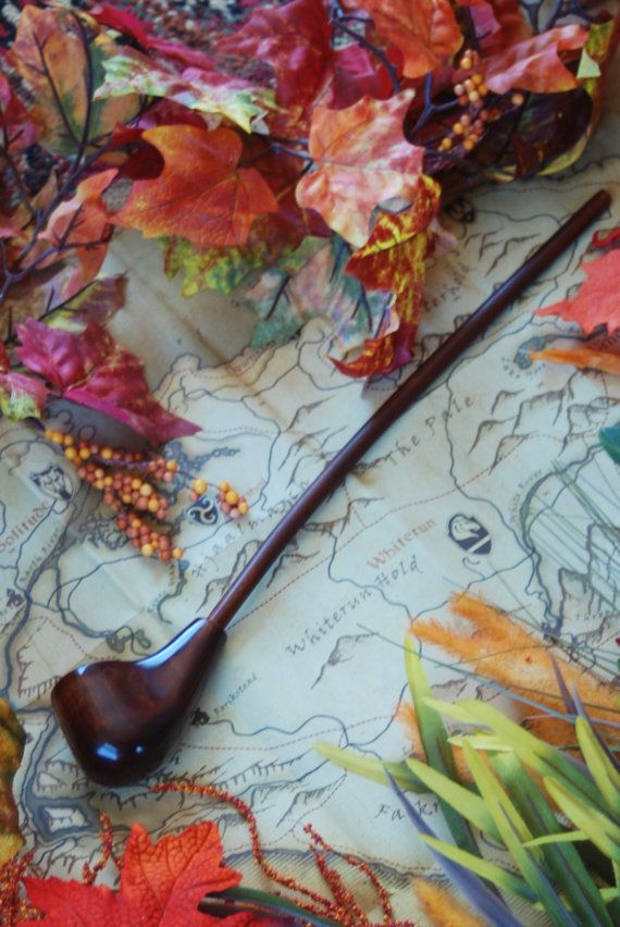 Gandalf Pipe 18 inch Dark Highly Figured Maple by FloggleWerks, $55.00