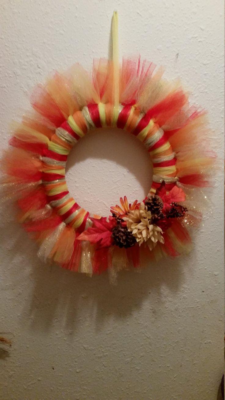 Las 25 mejores ideas sobre corona de flores de tul en - Coronas de flore ...