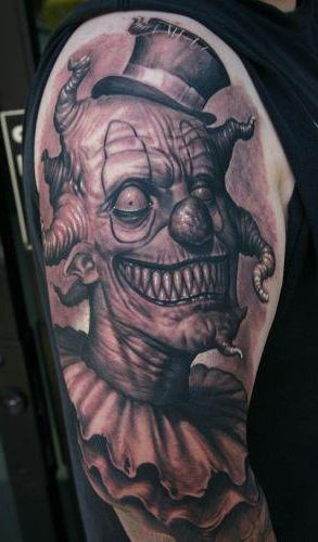 related tattoos wicked joker clown tattoo photo wicked ...