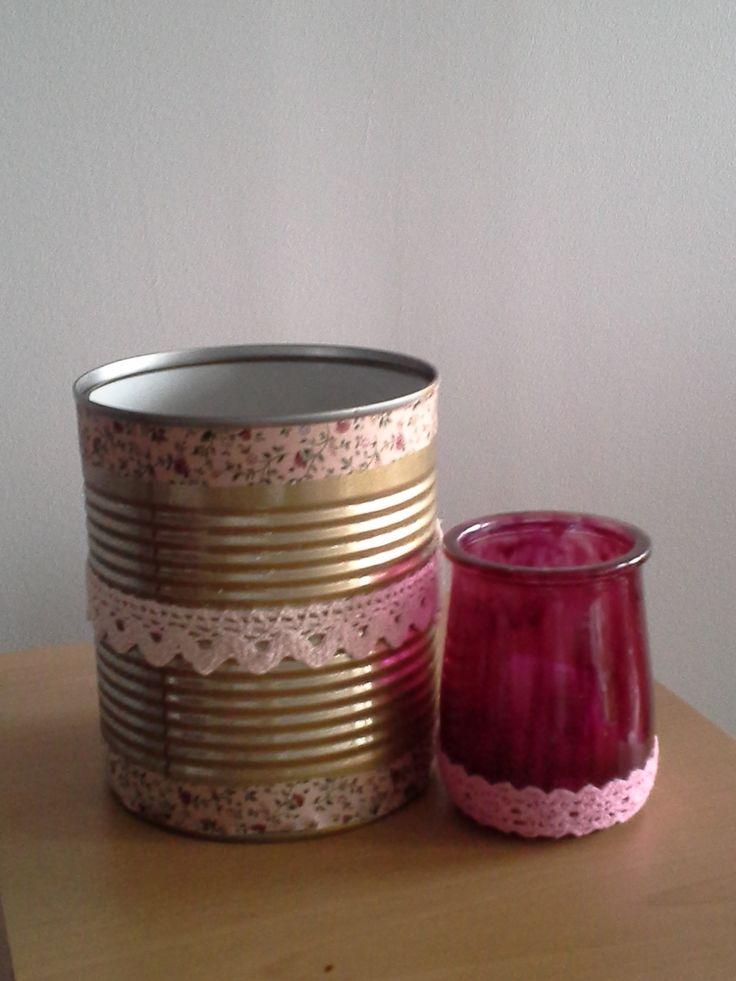 photophore et vase-centre de table