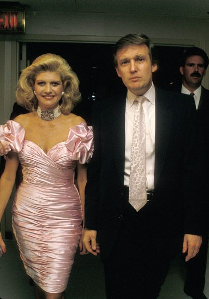 Donald Trump and Ivana Trump in the 80's