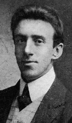 "Wallace Hartley was the leader of the Titanic's band of eight musicians who died when the ship sank. The band played merry tunes to keep up the passengers' spirits, although legend has it that at the end they played ""Nearer, my God, to Thee."""
