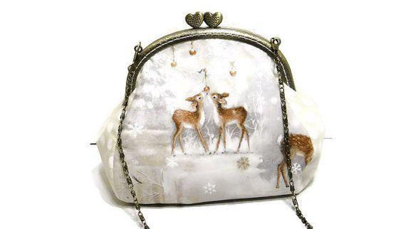 Women's purse wallet Deer Merry Christmas от LeatherBagsBackpacks