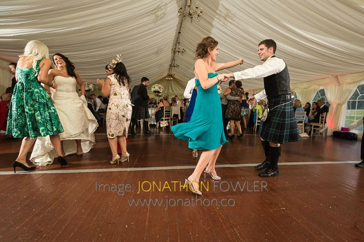 Glencorse House wedding photos - Lauren and Wayne - dancing in the marquee