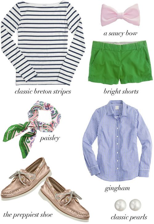 cute pieces from the preppy blog: Preppy Style, Preppy Things, Perfect Preppy, Colors Shorts, Spring Summ, Summer Outfits, Prep Preppy, Spring Outfits, Green Shorts