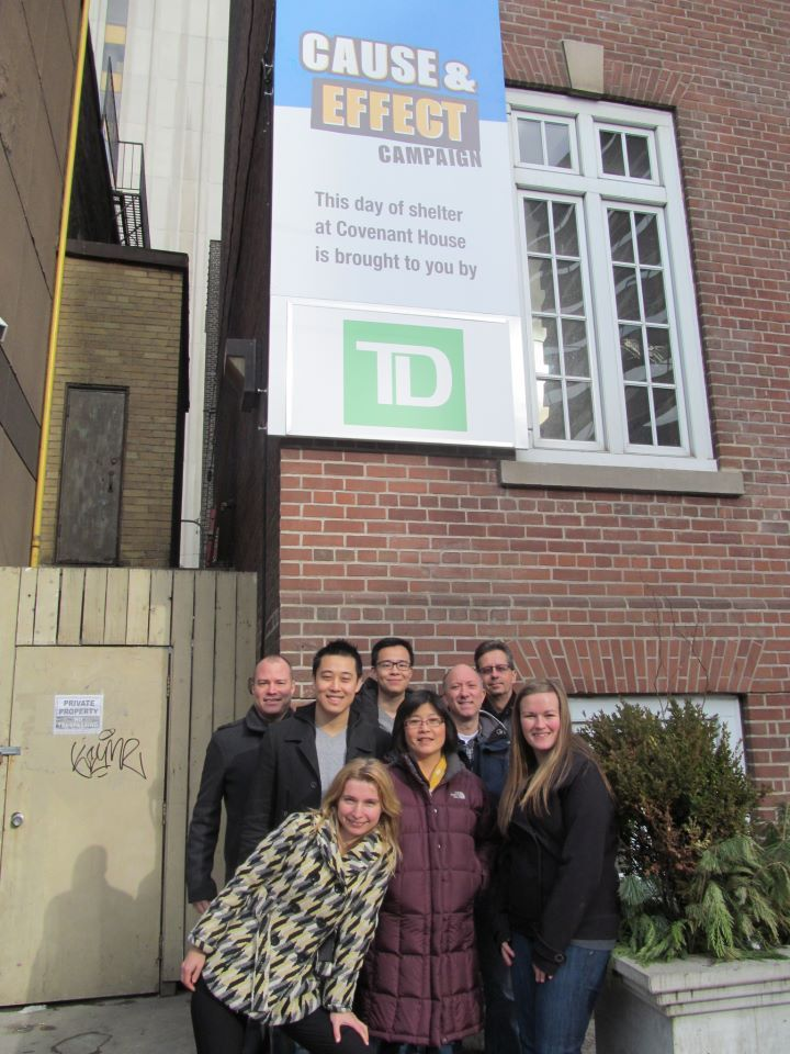 Thanks to TD for letting our kids know that people in the community care about them! TD is sponsoring a Day of Shelter at Covenant House today, including food, shelter, counselling and life-changing support for the youth staying in our crisis shelter. TD volunteers also came in to serve lunch to our kids and sort clothing.
