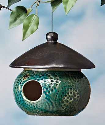 Glazed Ceramic Birdhouses