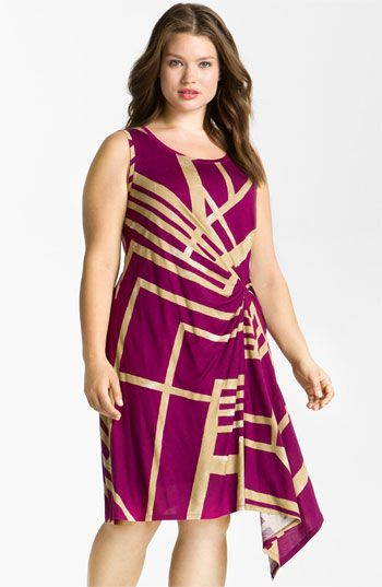dknyc draped sleeveless dress plus size valentines day style unique_womens_fashion