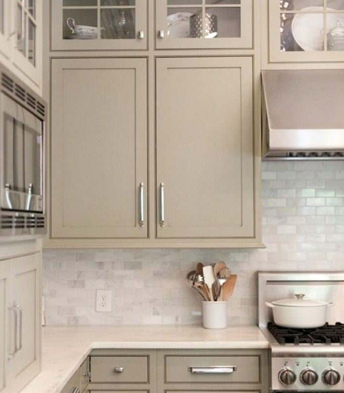 Cuisine Beige Et Taupe Trick In 2020 With Images Taupe Kitchen