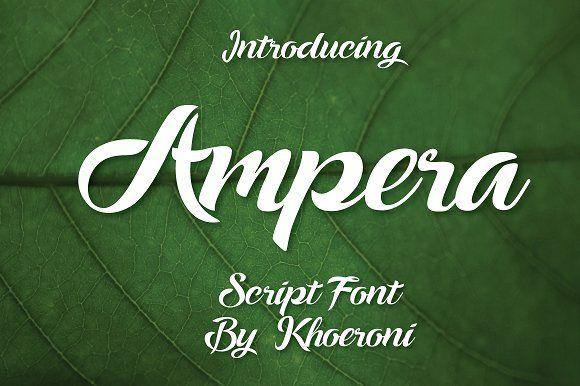 Ampera Font by menangan studio on @creativemarket