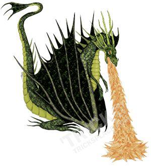Fire Breathing Dragon! Artwork by 'Trick. TricksPlace.com www.zazzle.com/tricksplace*