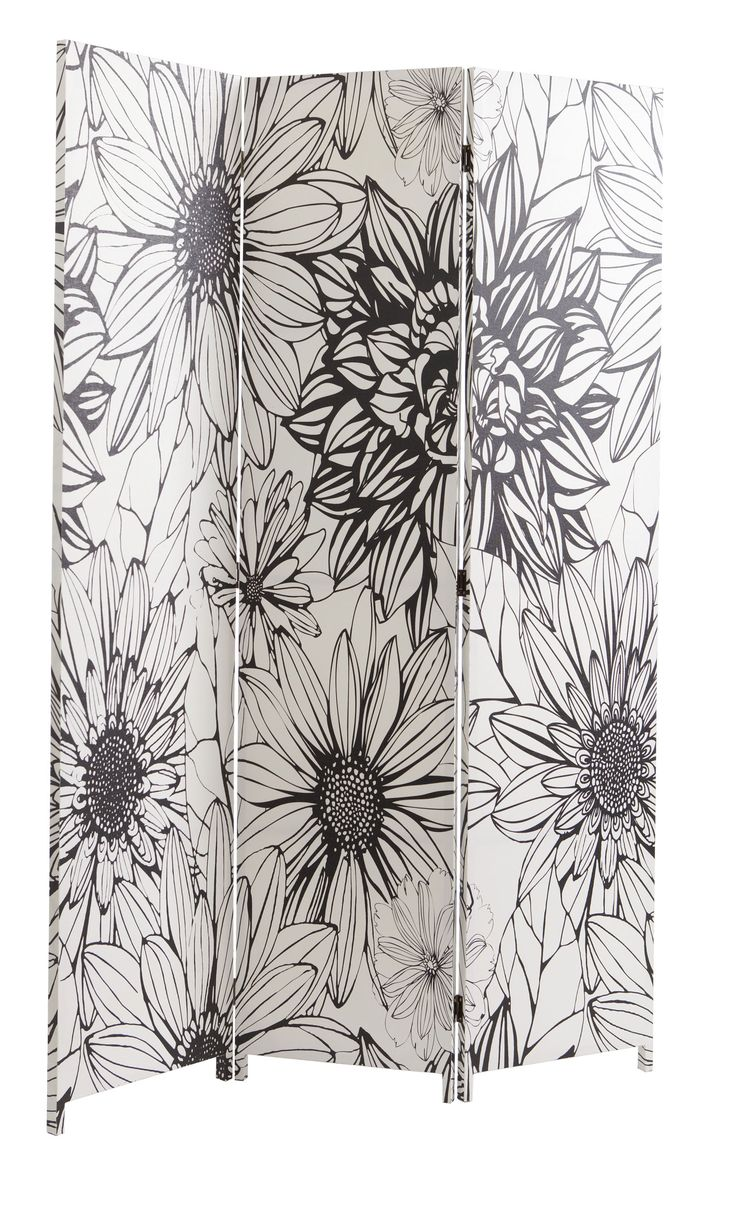 If you need to hide a messy corner, make a work zone or create a private space for overnight guests, then add a beautiful screen.  Dare Gallery's black and white flower screen will help you make the most of your living space and double up as beautiful art work. Price $129.
