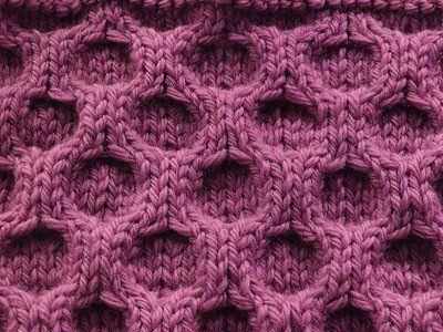 aran honeycomb knitting stitch