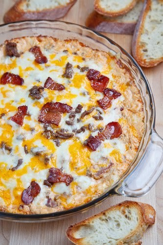 Bacon Double Cheese Burger Dip - A hot cheesy baked dip with all of ...