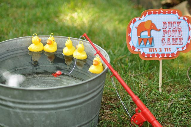 circus carnival birthday party games duck pond game
