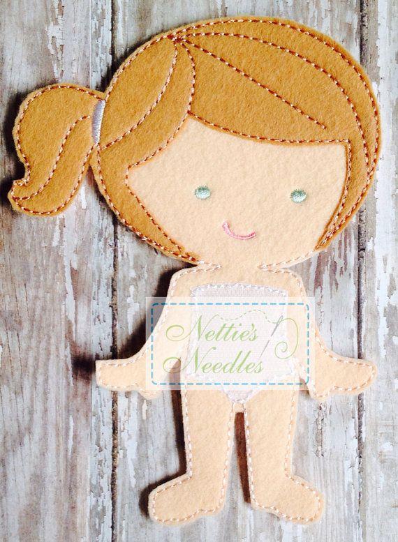 Elizabeth Felt Doll by NettiesNeedlesToo on Etsy, $7.00