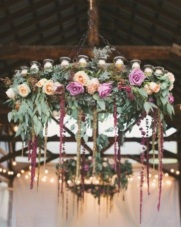 The Chandeliers | Martha Stewart Weddings