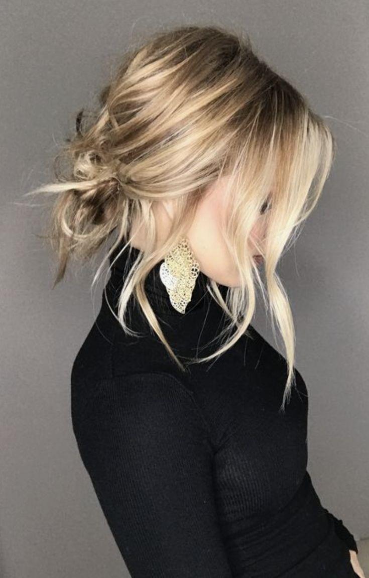 low bun + romantic curls