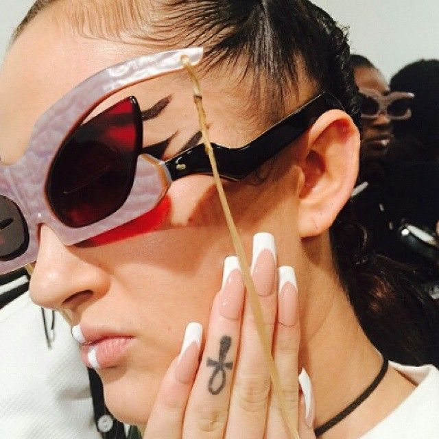 Nasir Mazhar SS 2015 LFW show. All the show glasses were produced by General Eyewear and designed by Nasir Mazhar.
