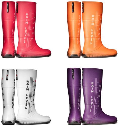 RAIN RULERS. Colorful Rubber Boots. Measure Water Levels!!