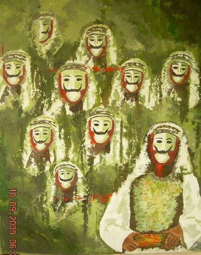 Masks...Danae's paintings