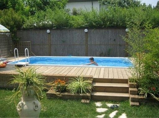 260 best pools images on pinterest above ground swimming for Swimming pool holzpool