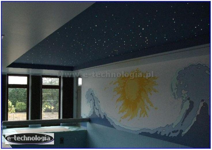 oświetlenie w basenie - zdjęcia hali basenowej - oświetlenie basenowe e-technologia