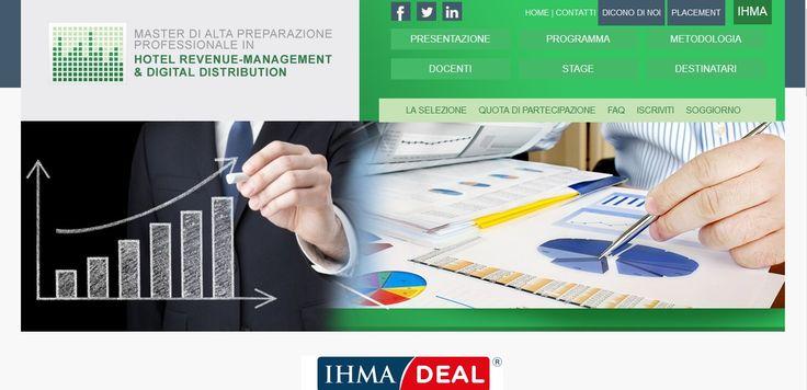 sito web per IHMA - Master Hotel Revenue Management & Digital Distribution
