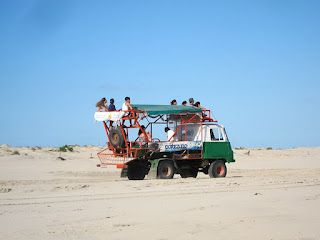 That's how you get to Cabo Polonio, natural reserve, Uruguay