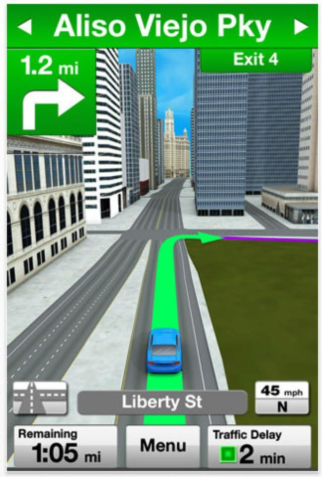 10 Best iPhone GPS Navigation Apps: Verizon VZ Navigator (free, $4.99 required monthly subscription fee)