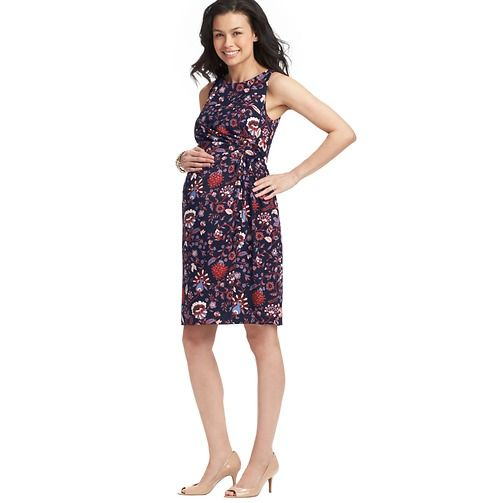 Loft - Maternity Clothes: Maternity Apparel, Dresses, Tops, Maternity Bottoms: LOFT - Maternity Floral Print Side Twist Dress