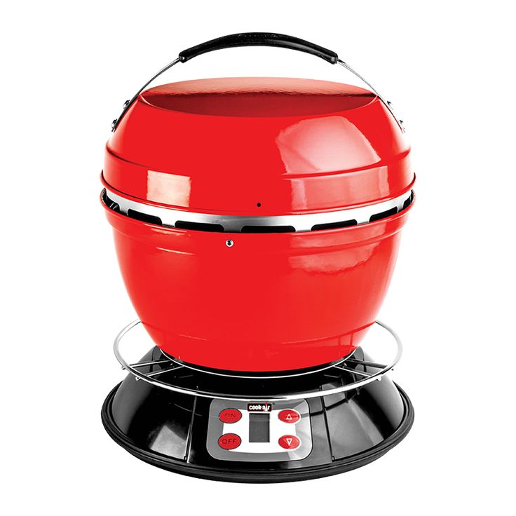 The Cook-Air is a portable wood grill that is great for grilling meats and vegetables.  It is perfect for the balcony, camping, picnics, and garden.  It gives a delicious smoky flavour to food and is great for searing steaks.
