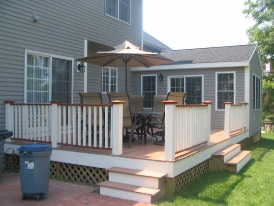 Sunroom and deck