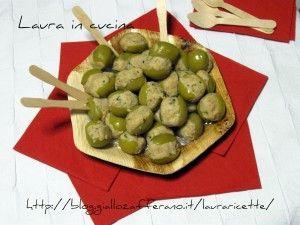 Olive verdi ripiene,ricetta finger food