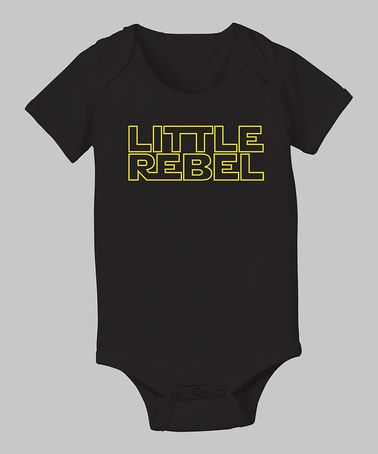 Take a look at this Black 'Little Rebel' Bodysuit - Infant by KidTeeZ on #zulily today!