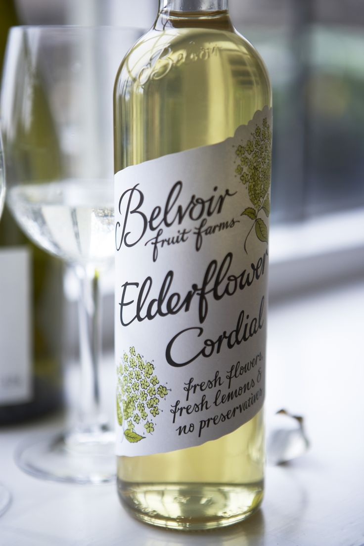 Elderflower Cordial - a marvelous alternative to wine, and served in the right glassware no-one can tell the difference.