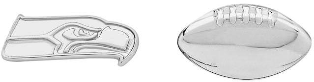 Kohl's Seattle Seahawks Team Logo & Football Mismatch Stud Earrings