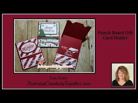 Envelope Punch Board Gift Card Holder - Fostering Creativity Together