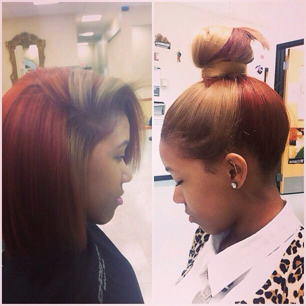 11 Best Sew In Hair Color Ideas Images On Pinterest Black Girls