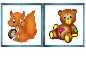 паззлы из 2, 3, 4 частей для детей от 1 года