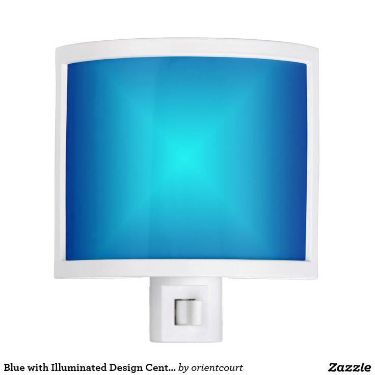 Blue with Illuminated Design Centre Nite Lite