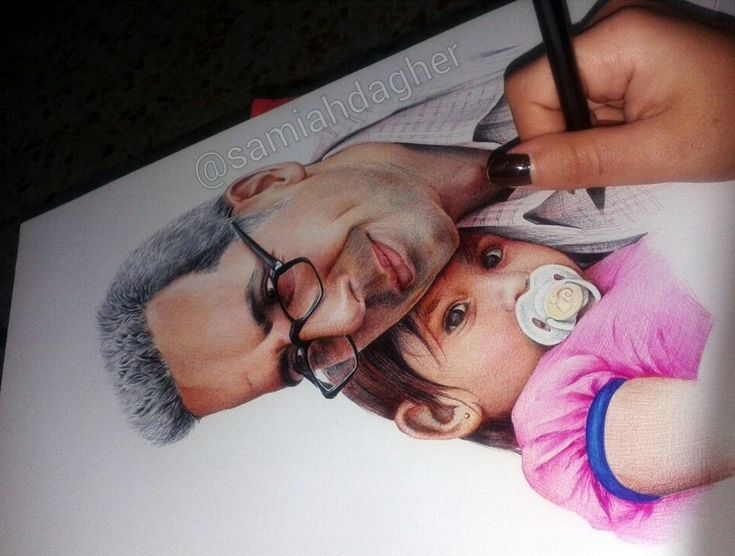 My friend and his daughter by samiahdagher on DeviantArt