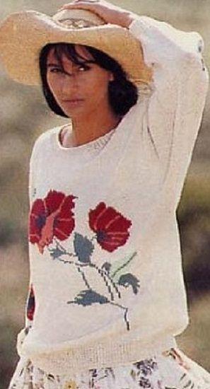 Мобильный LiveInternet Пуловер с маками | Fleure_de_Paris - Дневник Мармеладка |