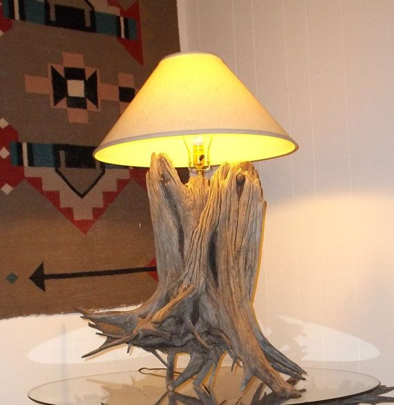 Unique Wood Stump Table Lamp Made With Driftwood - 18 Best Lamps Images On Pinterest Wood, Wood Lamps And Table Lamp