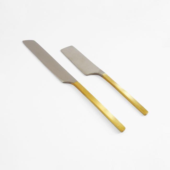 Mixed Metal Cheese Knives