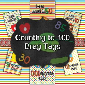 Hungry Caterpillar Inspired Counting Brag Tags (Behavior Incentive) - 20…