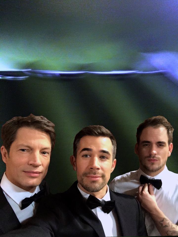 "Jo Weil and fellow Co Stars from ""Vorbidden Love""  l to r  Mickey Hardt, Jo Weil, Mark Bartel"