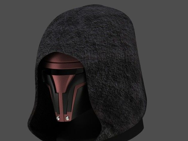 Made to fit a 6.5-7 inch wide head. This mask was based on the recent images of the Hasbro Revan figure.