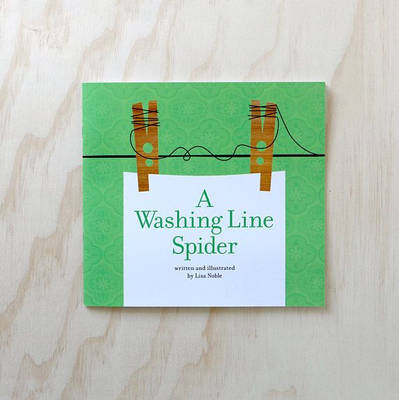Children's picture book  A Washing Line Spider  Written